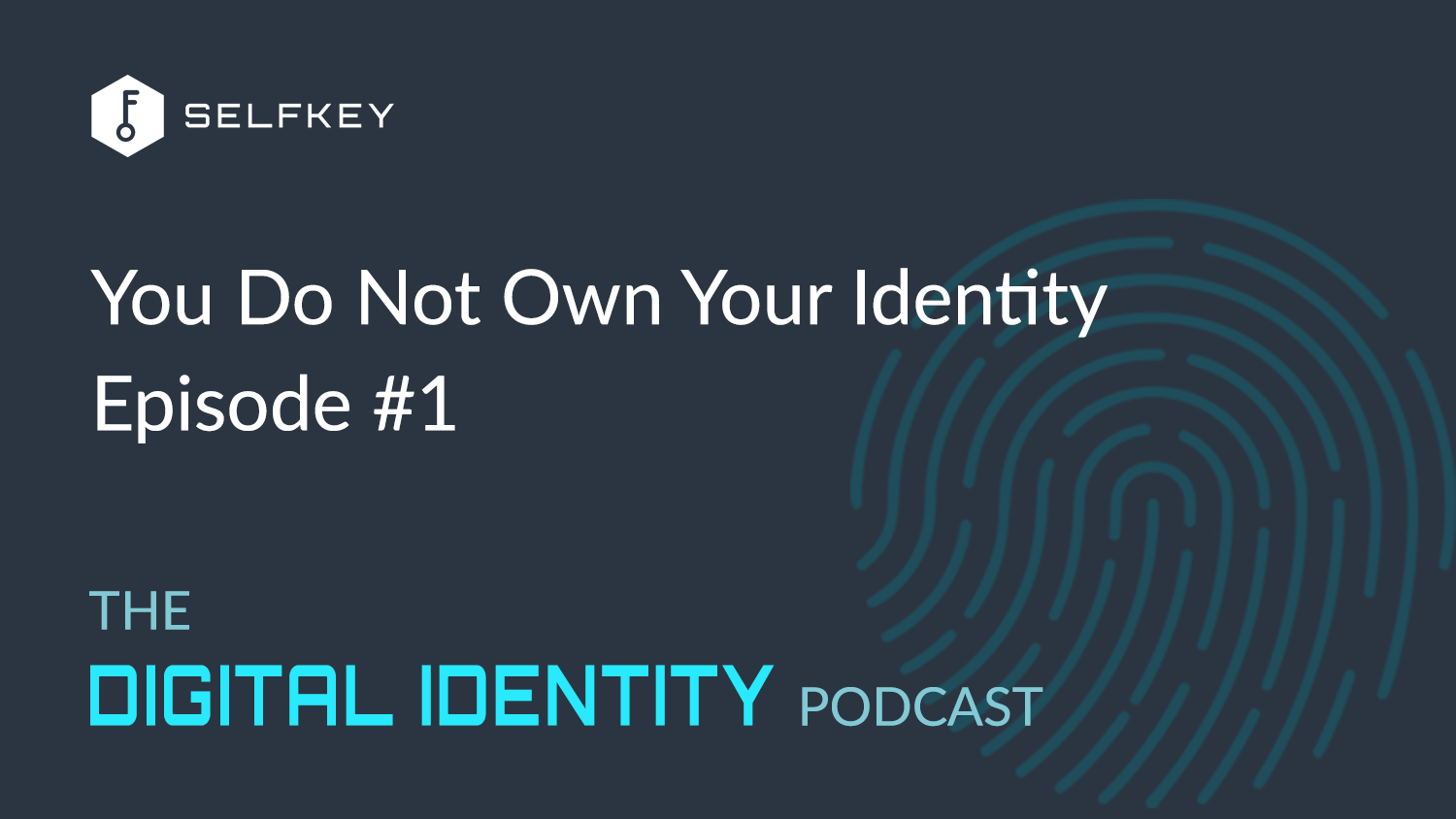 #1: You Don't Own Your Identity — The Digital Identity Podcast